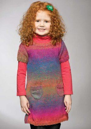 Patons Rainbow 8 Ply Girl's Dress