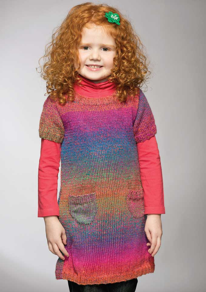 Patons Rainbow 8 Ply Girl's Dress