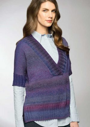 Patons Rainbow 8 Ply Poncho Jumper