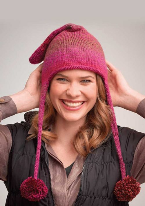Patons Rainbow 8 Ply Adult's Hat with Ear Flaps