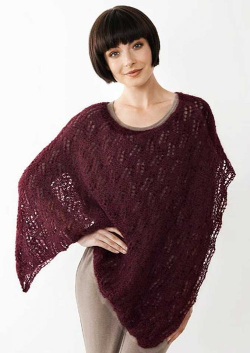 Patons Souffle 8 Ply Assymetrical Poncho