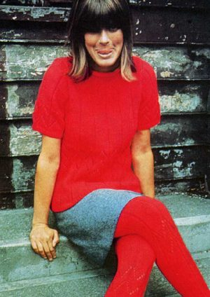 Patons Totem 8 ply Jumper and Stockings from 1967
