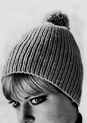 Patons Totem 8 ply Rib Beanie from 1967