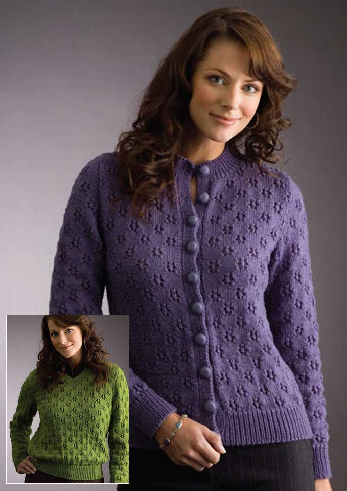 Patons Totem 8 Ply Eyelet Sweater or Cardigan