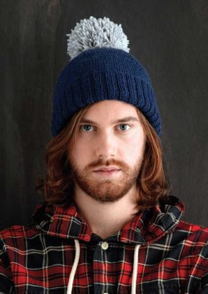 Patons Totem 8 Ply Family Hat with Pom Pom