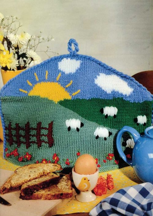 Patons Totem 8 ply Rise and Shine Tea Cosy