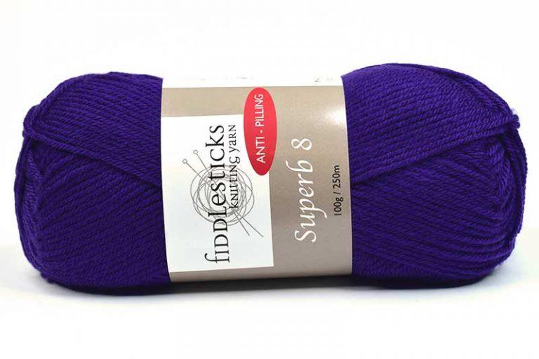 Fiddlesticks Supurb 8 ply Dark Purple