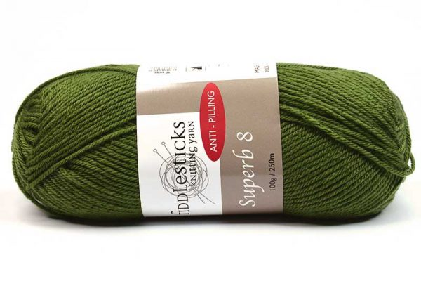 Fiddlesticks Supurb 8 ply Khaki Green