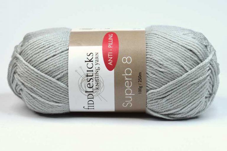 Fiddlesticks Supurb 8 ply Marle Grey