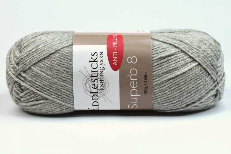 Fiddlesticks Supurb 8 ply Light Grey
