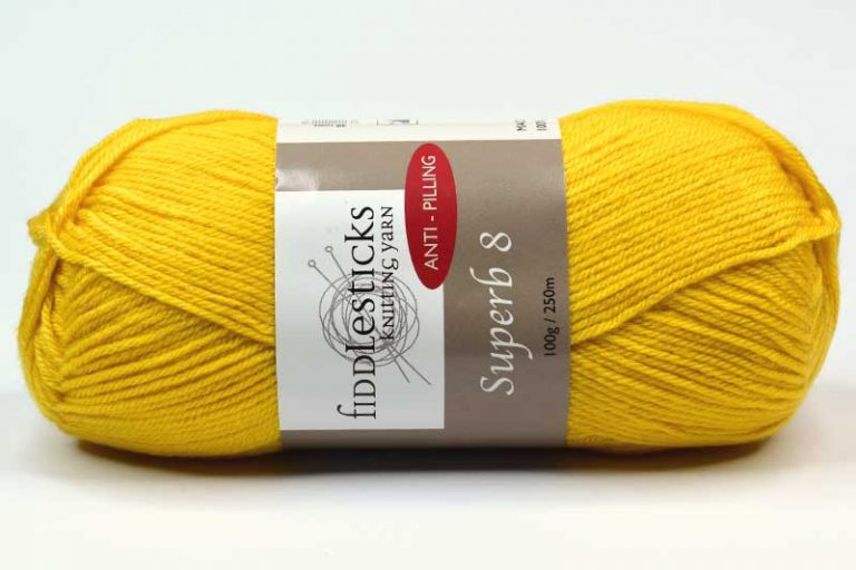 Fiddlesticks Supurb 8 ply Yellow