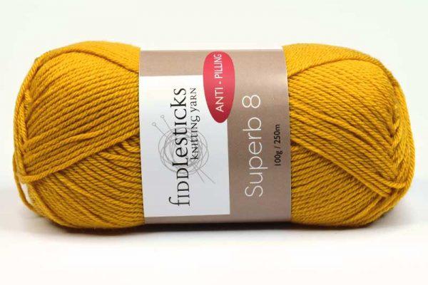 Fiddlesticks Supurb 8 ply Mustard Yellow