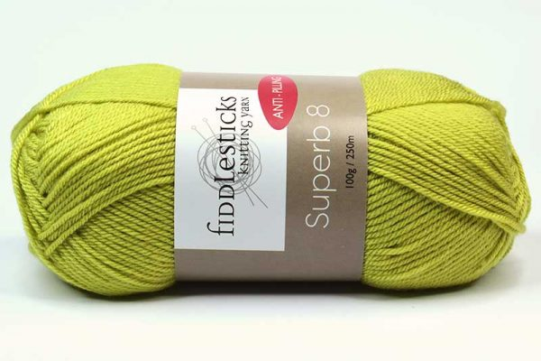 Fiddlesticks Supurb 8 ply Chartreuse