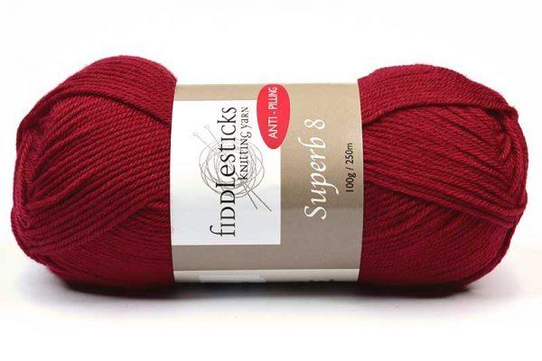 Fiddlesticks Supurb 8 ply Cherry